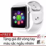 Chiết Khấu Sản Phẩm Đồng Hồ Thong Minh Smart Watch A1 Gắn Sim Độc Lập Trắng Tặng Gia Đỡ Vong Tay Thong Minh Mau Sắc Ngẫu Nhien