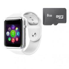 Đồng Hồ Thong Minh Smart Watch Aw08 Gắn Sim Độc Lập Kem Thẻ Nhớ 8Gb Trắng Smart Watches Chiết Khấu 40