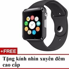 Hình ảnh Đồng hồ thông minh Smart Watch Q8 gắn sim độc lập (Trắng) + Tặng mắt kính nhìn xuyên đêm