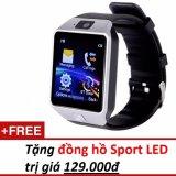 Ôn Tập Đồng Hồ Thong Minh Smart Watch Uwatch Dz09 Bạc Hang Nhập Khẩu Tặng 1 Đồng Hồ Đeo Tay Sport Led Mới Nhất
