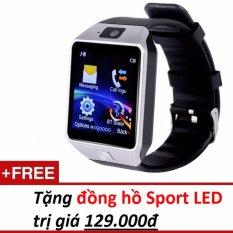 Mua Đồng Hồ Thong Minh Smart Watch Uwatch Dz09 Bạc Hang Nhập Khẩu Tặng 1 Đồng Hồ Đeo Tay Sport Led Oem Nguyên