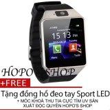 Mã Khuyến Mại Đồng Hồ Thong Minh Smart Watch Uwatch Dz09 Tặng Đồng Hồ Sport Led Va Moc Khoa Chống Tia Uv Sản Xuất Bởi Hopo S Shop Xam Uwatch