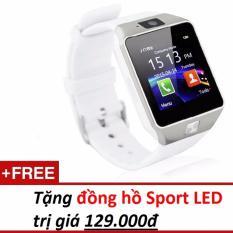 Đồng hồ thông minh Smart Watch Uwatch DZ09 (Vàng) - Hàng nhập khẩu + Tặng 1 đồng hồ đeo tay Sport LED