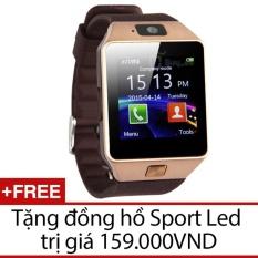 Đồng hồ thông minh Smart Watch Uwatch DZ09 (Vàng) + Tặng đồng hồ Sport Led