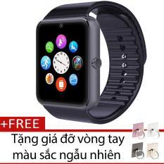 Đồng Hồ Thong Minh Smartwatch Gt08 Đen Tặng Gia Đỡ Vong Tay Thong Minh Mau Sắc Ngẫu Nhien Oem Chiết Khấu 50