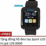 Đồng hồ thông minh Smartwatch PUTOCA IU8 tặng đồng hồ đeo tay SPORT LED