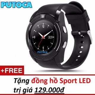 Đồng hồ thông minh Smartwatch PUTOCA V8 PLUS gắn sim độc lập tặng đồng hồ đeo tay SPORT LED thumbnail