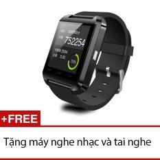 Bán Đồng Hồ Thong Minh Smartwatch U8 Peepvn Đen Tặng 1 May Nghe Nhạc Va 1 Tai Nghe Rẻ Nhất