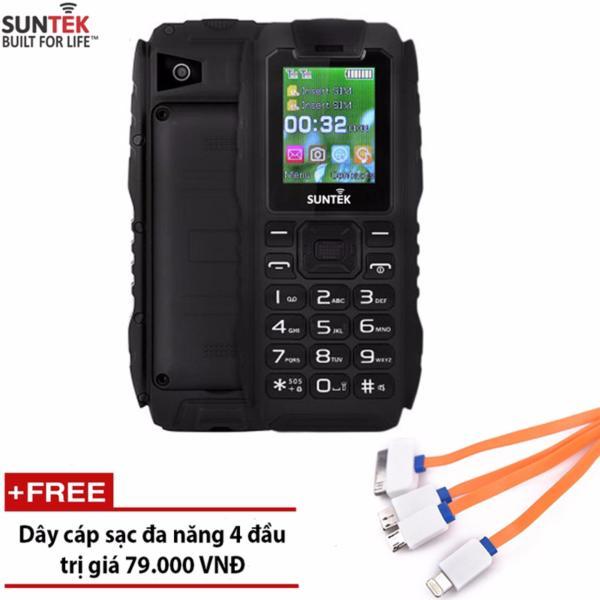 ĐTDĐ Suntek X9 2 SIM chống nước kiêm pin sạc dự phòng 16.000mAh (Đen) - Hàng nhập khẩu + Tặng cáp sạc đa năng