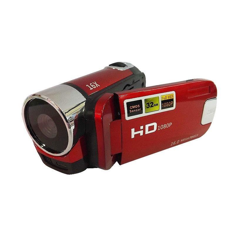 Dv Máy Ảnh Kỹ Thuật Số 1080 P Máy Quay Video Kỹ Thuật Số 2.7 Máy Tính Năng Camera 16 Triệu Nhà Hd-Đỏ-Quốc Tế