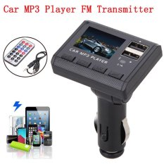 Erpstore Car Music MP3 Player FM Transmitter Modulator Dual USB Charging SD MMC Remote - intl