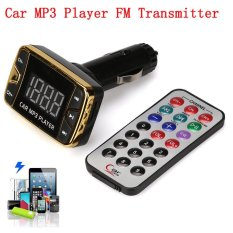 Erpstore MP3 Player Wireless FM Transmitter Modulator Car Kit USB SD TF MMC LCD Remote - intl
