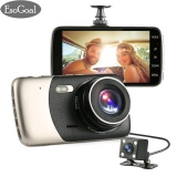 Esogoal 4 Dash Cam Front And Rear Dual Lens Camera Night Vision 1080P 140° Car Dvr On Dash Video Recorder G Sensor Vehicle Camera Camcorder Motion Detection Intl Esogoal Chiết Khấu 40