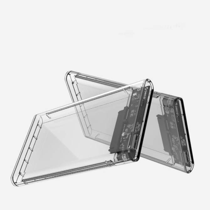 Etmakit New 2.5 inch Transparent USB3.0 to Sata 3.0 HDD Case Tool Free 5 Gbps Support 2TB UASP Protocol Hard Drive Enclosure - intl