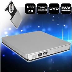 Hình ảnh Bên ngoài Ổ ĐĨA DVD Combo Cầu Thủ CD-RW Đốt USB 2.0 Cho Máy Tính Xách Tay MÁY TÍNH Để Bàn PC Mac-quốc tế
