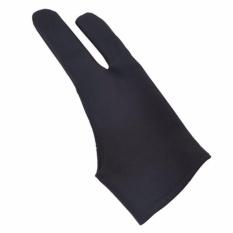 Hình ảnh Fancyqube 1 piece vẽ tay nghệ sĩ găng tay cho bất kỳ Đồ Họa Máy Tính Bảng vẽ Đen 2 ngón tay chống bám bẩn, cả hai cho bên phải và tay trái H02-quốc tế