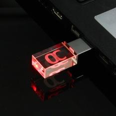 Thời trang Acrylic 16 gb 16 gam USB 3.0 Trong Suốt Chống Nước Đèn Flash Thẻ Nhớ Ổ Ngón Tay Cái ĐÈN LED-quốc tế