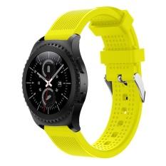 Thời trang Thể Thao Silicone Dây Đeo Tay Cho Samsung Gear S2 Cổ Điển 732 YE-quốc tế