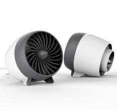 Hình ảnh FEYREE Di Động Quạt USB Dành Cho Máy Tính Để Bàn 2 Bánh Răng Dùng Để Bàn Mini USB Mát Trắng-quốc tế
