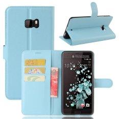 Giá Bán Flip Leather Wallet Cover Case For Htc U Ultra Blue Intl Rẻ Nhất
