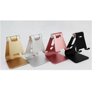 Hình ảnh Foldable Cell Phone Stand Ergonomic Aluminium Tablet Holder Charging Dock Station for iPhone iPad Smartphone Tablet