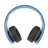 Co Thể Gấp Gọn Khong Day Thẻ Đai Phat Thanh Bluetooth4 1 Stereo Tai Nghe Xanh Dương Quốc Tế Vakind Chiết Khấu 40