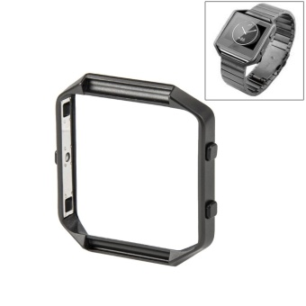 For Fitbit Blaze Watch Stainless Steel Frame Holder Shell(Grey) - intl