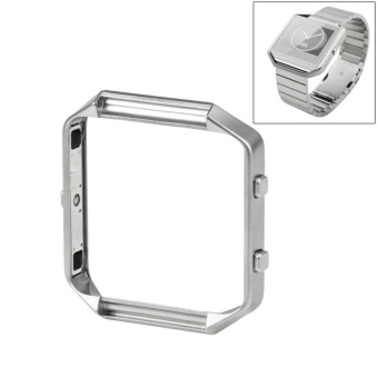 For Fitbit Blaze Watch Stainless Steel Frame Holder Shell(Silver) - intl