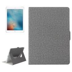 Hình ảnh Dành cho iPad Air/iPad Air 2/iPad Pro 9.7/New iPad 9.7 (2017) vải Ngang dùng Bao da có Giá Đỡ và Giấc Ngủ/đánh thức Chức Năng (Màu Xám)-quốc tế
