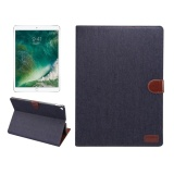 Ôn Tập For Ipad Pro 12 9 Inch 2017 Denim Texture Horizontal Flip Leather Case With Holder And Card Slots And Wallet And Photo Frame Black Intl