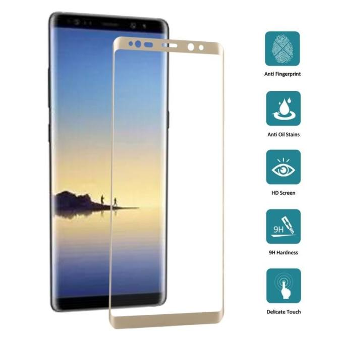 For Samsung Galaxy Note 8 0.3mm 9H Surface Hardness 3D Curved Silk .