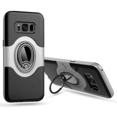 Ôn Tập Danh Cho Samsung Galaxy Samsung Galaxy S8 Ốp Lưng Da Hạt 360 Độ Xoay Vong Ốp Lưng Tich Hợp Gia Đỡ Chiếc Nhẫn Chan Đế Co Thể Lam Việc With Từ Tinh Gia Treo Above Xe Chuồn Va Đập Chuồn Sốc Quốc Tế