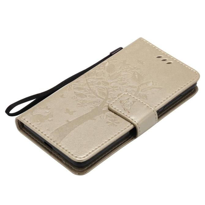 Classic Fashion Style Wallet Flip Stand PU Leather Phone Case - intl.
