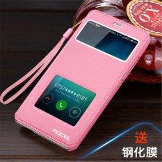 Bán Danh Cho Xiaomi Redmi Note 5 5 Inch Đoi Cửa Sổ View Bao Da Flip Ốp Lưng Da Pu Sang Trọng Ốp Lưng Tặng Day Buộc Hồng Quốc Tế Nguyên