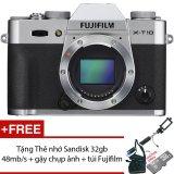 Mua Fujifilm X T10 16 3Mp Body Bạc Tặng Thẻ Nhớ Sandisk 32Gb 48Mb S Gậy Chụp Ảnh Tui Fujifilm Trực Tuyến Rẻ