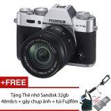 Bán Fujifilm X T10 16 3Mp Với Lens Kit Xc 16Mm 50Mm F3 5 F5 6 Bạc Tặng Thẻ Nhớ Sandisk 16Gb 48Mb S Trực Tuyến Vietnam