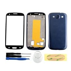 Hình ảnh Full Vỏ Ốp Lưng + Kính Màn Hình Lắp Ráp Dành Cho Samsung Galaxy Samsung Galaxy S3 i9300 Xanh Dương-quốc tế