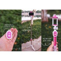 Gậy chụp ảnh Selfie Bluetooth 3 trong 1 kèm chân đế ( Nhiều màu)