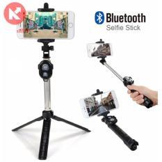 Hình ảnh Gậy tự sướng 3 chân Bluetooth có Remote loại 1 ( Xanh)_ Hàng nhập khẩu