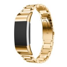 Hình ảnh Chính hãng Dây Thép Vòng Tay Đồng Hồ Thông Minh Dây Đeo Vòng Đeo Sức Khỏe Fitbit Charge 2 GD-quốc tế