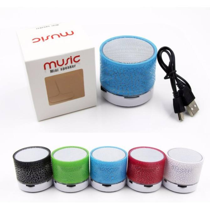 ... GETEK Vibrant cracked Bluetooth speakers new mini portable car led subwoofer u disk