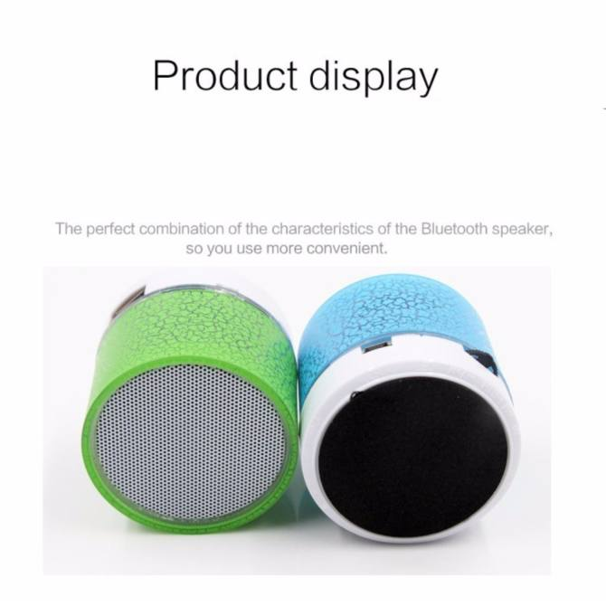 GETEK Vibrant cracked Bluetooth speakers new mini portable car led subwoofer u disk card music universal