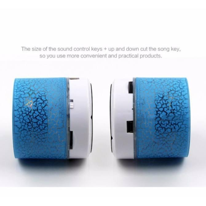 GETEK Vibrant cracked Bluetooth speakers new mini portable car led subwoofer u disk card music universal ...
