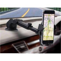 Giá đỡ kẹp điện thoại trên xe hơi, ô tô kéo dài, thu hẹp xoay 360 độ (Đen)