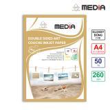 Giấy In Ảnh Media 2 Mặt Bóng (Glossy) A4 (21 x 29.7cm) 260g 50 tờ - Hàng Nhập Khẩu