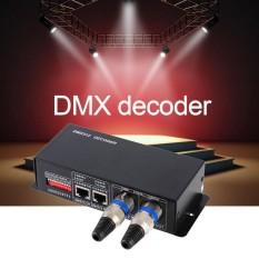 Hình ảnh TỐT 3CH DC12-24V RGBW DMX 512 Bộ Giải Mã Điều Khiển ĐÈN LED RGB LED DMX512 Bộ Giải Mã Đen-quốc tế