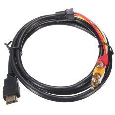 Hdmi Male To 3 Rca Video Audio Converter Component Av Adapter Cable Hdtv 1 5M Intl Oem Chiết Khấu 40