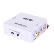 Hình ảnh HDMI To RCA AV/CVBS Adapter HD 1080 p Mini HDMI2AV Chuyển Đổi Video Màu Trắng-quốc tế