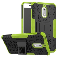 Giá Bán Rẻ Nhất Hicase Co Thể Thao Rời 2 Trong 1 Chống Sốc Dẻo Dai Chắc Chắn 2 Lớp Bao Da Ốp Lưng Cho Nokia 6 Xanh La Quốc Tế