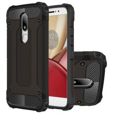 Bán Mua Hicase Dual Layer Armor Shell Hard Back Cover For Moto M Black Intl